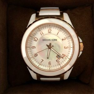 Michael Kors Two-Tone Ceramic Watch